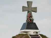 Pamiątkowy krzyż na miejscu 17-wiecznych, krwawych zmagań