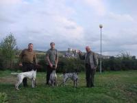 Wracamy z Bratysławy, od lewej Fiord z A. Gaponem, Flora ze mną, Fryga z Konradem.
