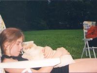 Wieczorny relaks - Hania ze szczeniakiem