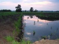 Rok 2001 - Przewiązka południowa wykopana w torfowisku
