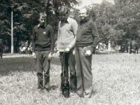 A, Z Ciemniewscy, Michał Świerkot i Tora lata 80-te - wystawa psów w Chorzowie.