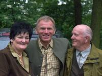 Konrad z żoną i Ludek