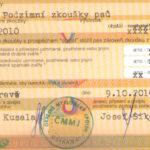 FIORD - Certyfikat użytkowości Czechy - rewers