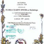 Dyplom VII Międzynarodowy Konkurs Pracy Sokołów Małopolski