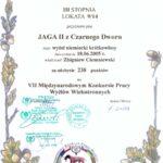 Dyplom z VII Międzynarodowego Konkursu Wyżłów w Sokołowie Małopolskim 16.10. 2010 r.