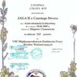 Dyplom z VIII Międzynarodowego Konkursu Wyżłów w Sokołowie Małopolskim 17.10. 2010 r.