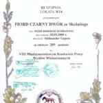Dyplom VIII MKP Wyżłów Wielostronnych Sokołów Młp.