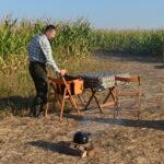 Po pierwszej godzinie polowania krótki odpoczynek który Koledzy z Ukrainy zawsze bardzo celebrują
